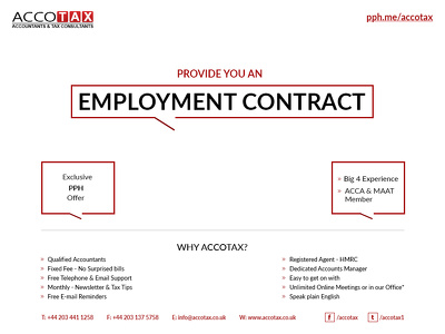 Provide you an Employment contract - Amendable