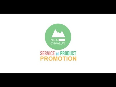 Create a Service Or Product Promotion/Presentation as Shown