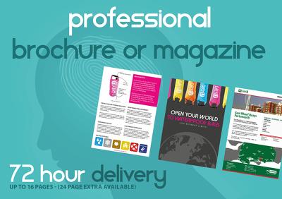 Design a stunning, professional, bespoke design brochure or magazine (12pp)