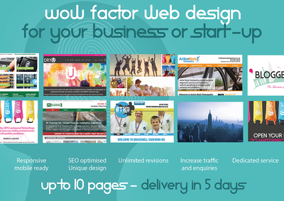 Design a stunning 10 page website for your existing or start-up business