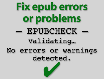 Fix epub errors or problems