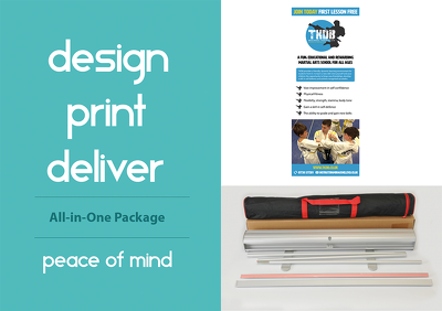 Design and deliver a professional pull up / roll up banner - Unlimited revisions
