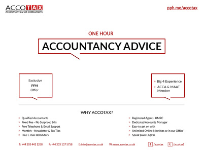 Provide Accountancy & Tax Advice for an Hour