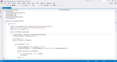 Code C# program/application