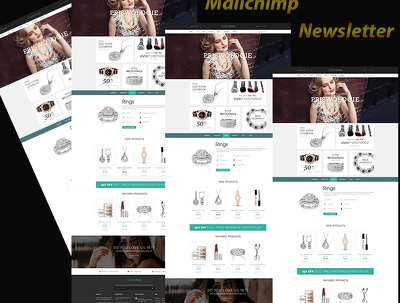 Responsive Mailchimp Email newsletter template