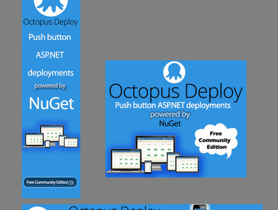 Design a web banner ad set