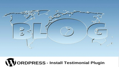 Install WordPress Testimonial plugin