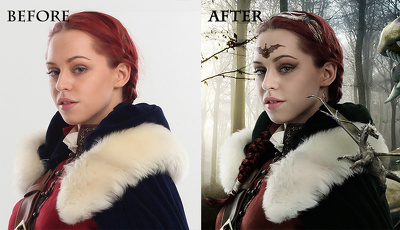 Do skin retouching and enhancment