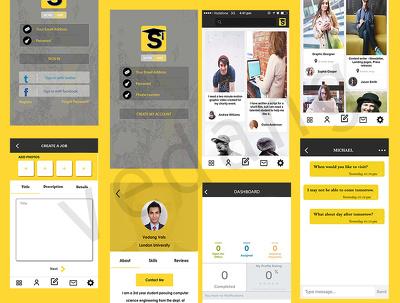 Design app screens