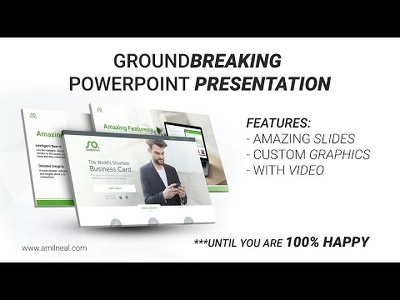 Design a groundbreaking powerpoint presentation * Amazing Graphics *