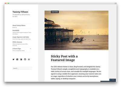 Create a wordpress blog template to your website