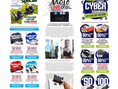Create high impact original e-marketing mailouts that convert
