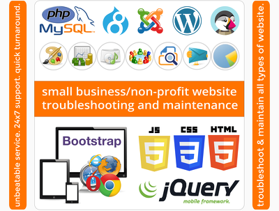 Offer small business/non-profit website troubleshooting & maintenance