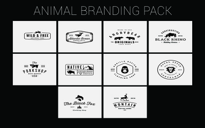 Animal Branding, Vintage Badges & New Year Badges Style Logo Templates