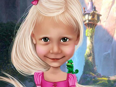 Draw your baby child as  Fairy-Tale Character