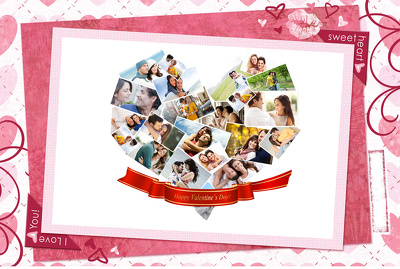 Design Amazing Valentine Collage