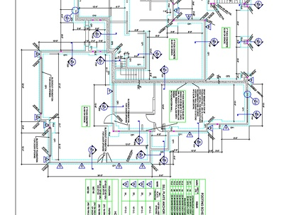 Full Construction Set of Drawing of USA Residential Project(Stud Wall, Timber Beam)