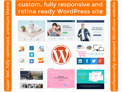 Design & develop responsive, SEO, social, fast loading, secure WordPress/CMS pro site