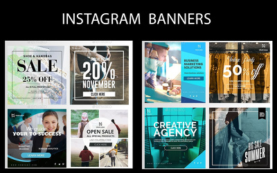 Instagram Banners Promo 77 different layouts variations  Layered PSD Fully editable