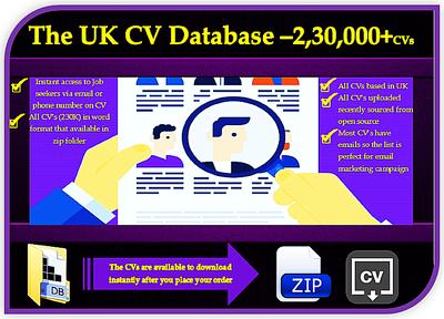 provide UK CV database -2,30,000 CVs in word format