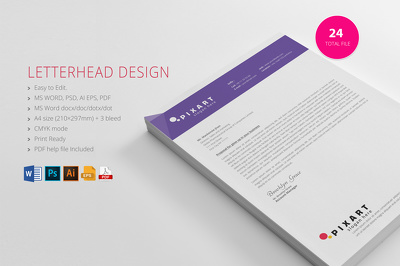 Letter head Design with word file