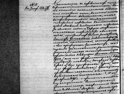 Transcribe an old Russian handwritten document and translate it