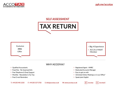 Prepare and file Personal Tax Return/Self Assessment Tax Return