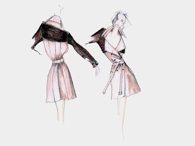draw a fashion illustration, sketch or drawing