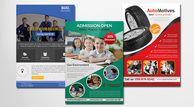 Design stylish and professional double side flyer