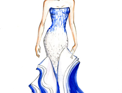 Create fashion sketches and illustrations