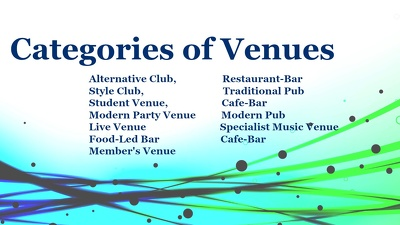 Provide 300 entertrainment venues list of UK