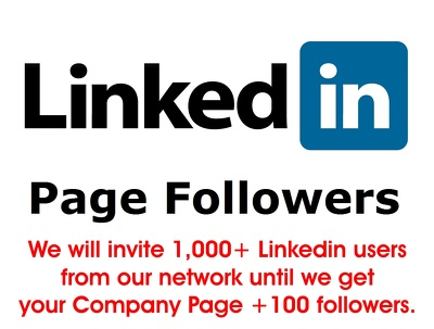 Add 100 REAL & targeted followers to your LinkedIn Company Page
