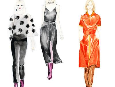 Create fashion illustrations in watercolor