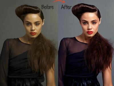 Adobe Photoshop edit photo retouching 10 images