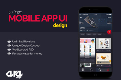 Mobile App UI UX  design for Android, iOS, Windows or any platform