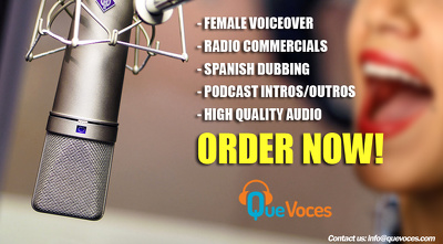 Recording a spanish FEMALE voice over for you