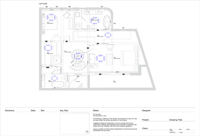 Draft  a 2D floor plan (with dimensions) in Autocad format