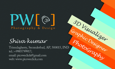 Design a professional, double sided business card