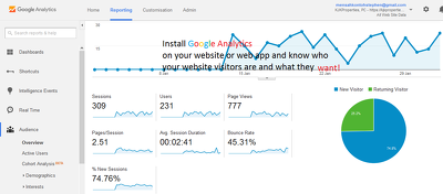 Setup or troubleshoot google analytics setup for your website or web app