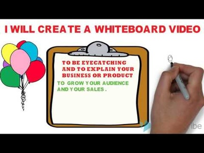 do a whiteboard video animation up to1 minute with words and music in the background