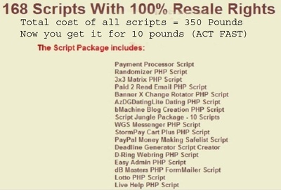 Give you 168 Internet Business Scripts