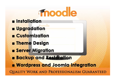 Do moodle installation or upgradation