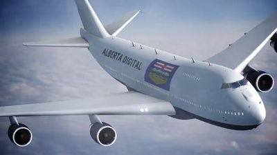 Advertise anything on a moving Jumbo Jet