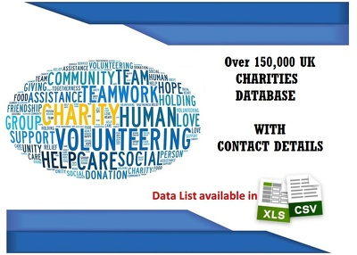 Give 150,000 Database of UK registered Charities
