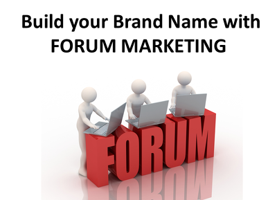 Manually provide you Full Forum Marketing with 50 Forum Posts