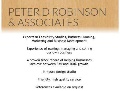 Review your business or marketing plan & produce a report with recommendations