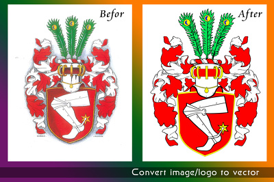 Convert your complicated image to high resolution vector