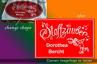 Convert your simpler logo / image  jpeg, png or draw to high resolution vector