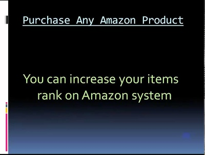 Generate 50 purchase for amazon product ranking