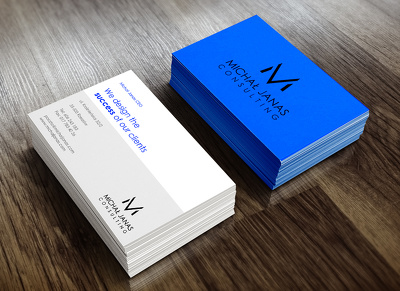 Design a professional looking business card with revisions